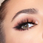 easy to apply glam strip lashes and winged eyeliner stamp by first class beauty co
