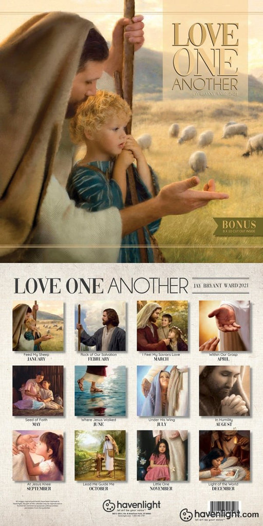 2021 Calendar - Love One Another