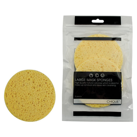 front of individual sponge and Retail Packaging