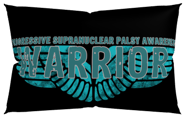 PSP Progressive Supranuclear Palsy Warrior Wings Awareness Pillow Case