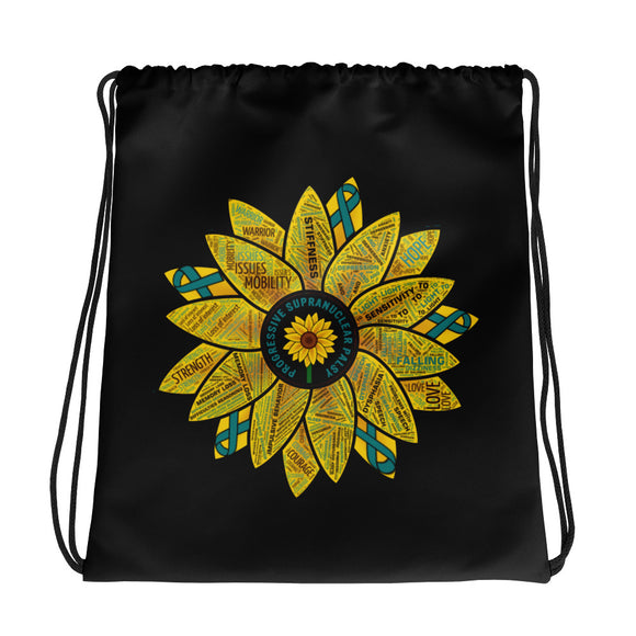 PSP Progressive Supranuclear Palsy Sunflower Awareness Drawstring Bag