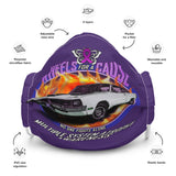 MSA Multiple System Atrophy Wheels for a Cause Face Mask Purple