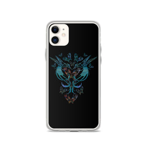 PSP Hummingbirds Butterflies iPhone Case