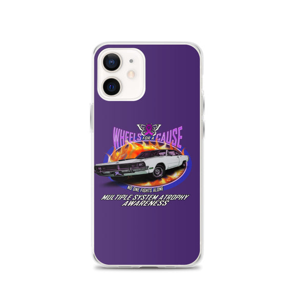 MSA Multiple System Atrophy Wheels for a Cause iPhone Cases Purple