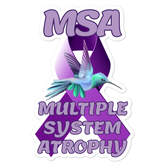 MSA Awareness Hummingbird Decal