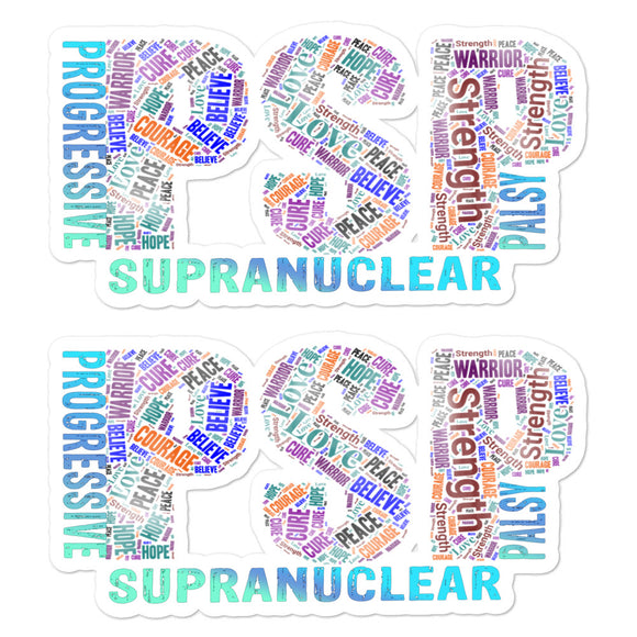 PSP Progressive Supranuclear Palsy Words Decals.