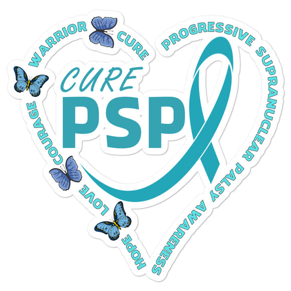 PSP Progressive Supranuclear Palsy Heart Cure PSP Decal
