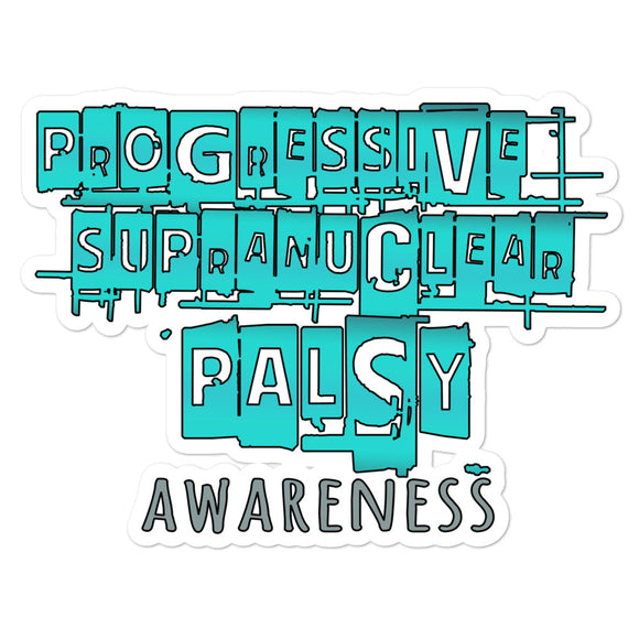 PSP Progressive Supranuclear Palsy Awareness Letters Decal