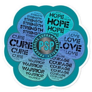 PSP Progressive Supranuclear Palsy Awareness Flower Decal