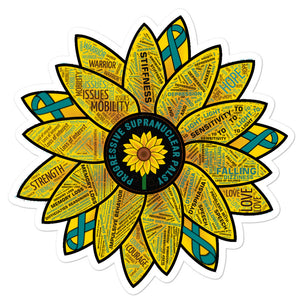 PSP Progressive Supranuclear Palsy Awareness Sunflower Decal