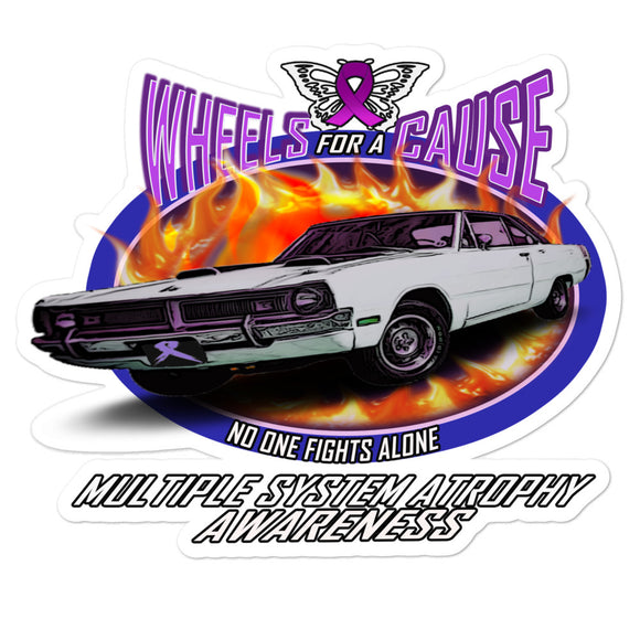 MSA Multiple System Atrophy Wheels for a Cause Decal