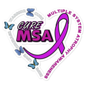 Cure MSA Multiple System Atrophy Awareness Kiss Cut Decal