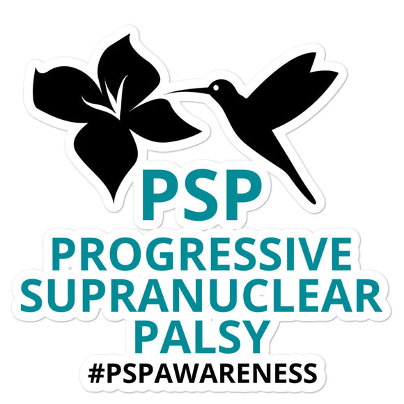 Original PSP Progressive Supranuclear Palsy Awareness 5.5 x 5.5 inch Vinyl Decal