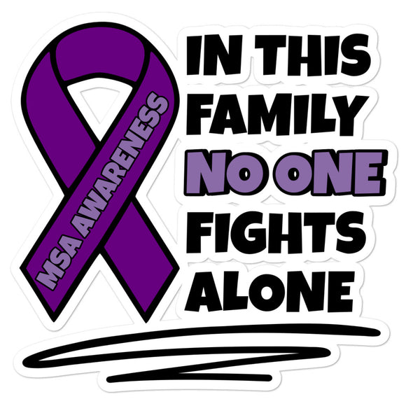 MSA No One Fights Alone Decal