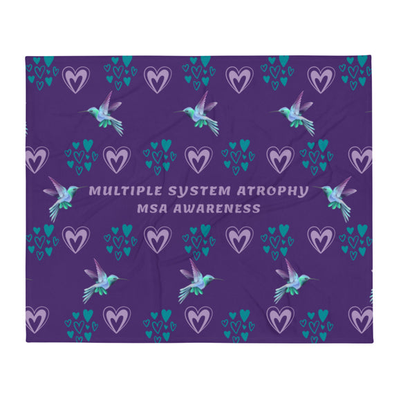 MSA Hearts Throw Blanket