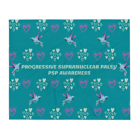Progressive Supranuclear Palsy Awareness Throw Blanket