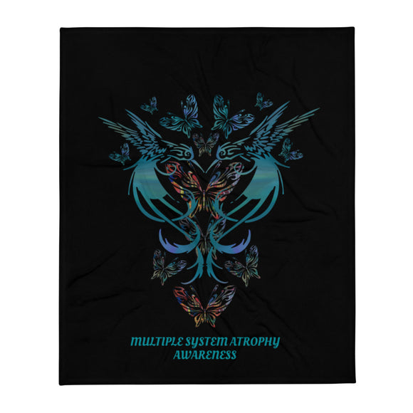 MSA Hummingbird Heart Awareness Throw Blanket