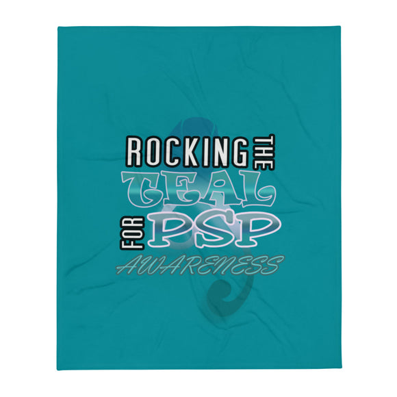 PSP Progressive Supranuclear Palsy Rocking Teal Throw Blanket