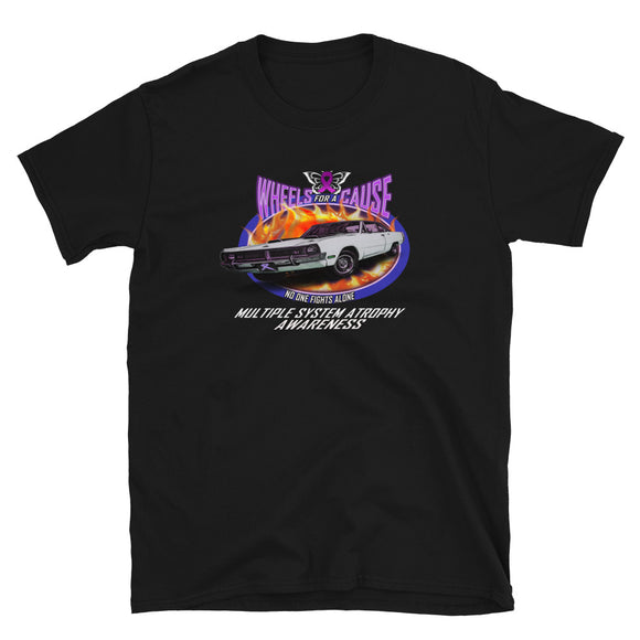 MSA Multiple System Atrophy Wheels for a Cause Unisex T-Shirt Front Print
