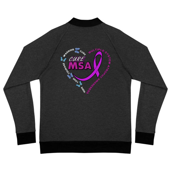 Cure MSA Multiple System Atrophy Awareness Bomber Jacket