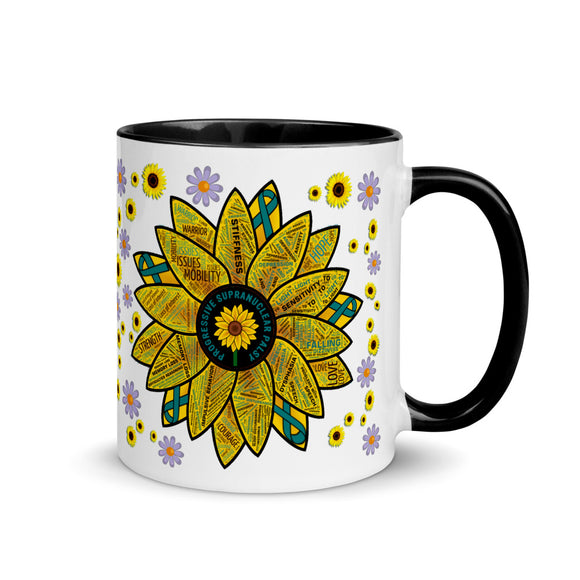 Sunflower PSP Awareness Coffee Mug 11oz, Progressive Supranuclear Palsy