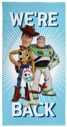 Towel 'We're Back' ~ Toy Story 4 - PRE ORDER