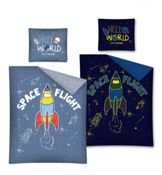 SPACE FLIGHT 'Glow In The Dark' Euro 100% Cotton Single Bed Doona Cover Set ~ SALE