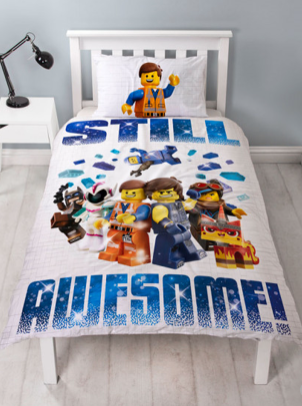 Single Bed Panel Doona Cover Set 'Action' ~ Lego Movie 2