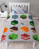 Single Bed Doona Cover Set 'Pixels' ~ Minecraft - PRE ORDER