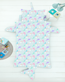 3D Pillowcase Single Bed Doona Cover Set ~ Narwhale