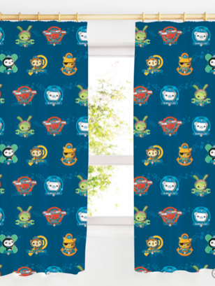 Curtains 72 inch 'Crew' ~ Octonauts