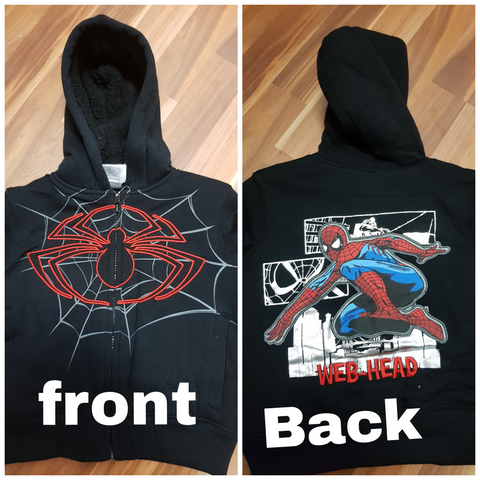Fleecy Lined Jacket ~ Spiderman