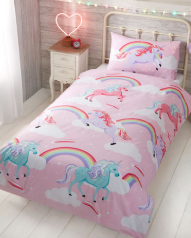 Cot / Toddler Bed Doona Cover Set 'My Little' ~ Unicorn - PRE ORDER