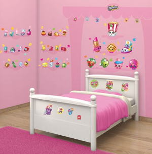 Walltastic Room Decor Wall Sticker Kit Inspired By Shopkins - SALE