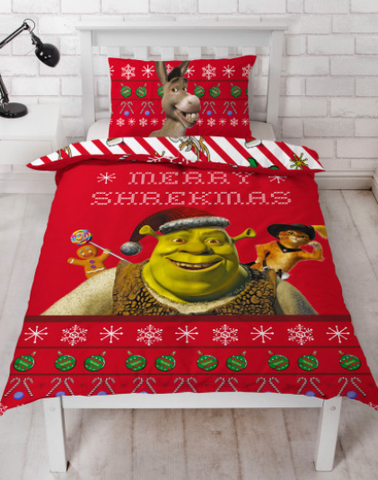 Single Bed Doona Cover Set 'Merry' ~ Shrek