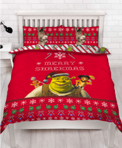 Double / Queen Bed Doona Cover Set 'Merry' ~ Shrek