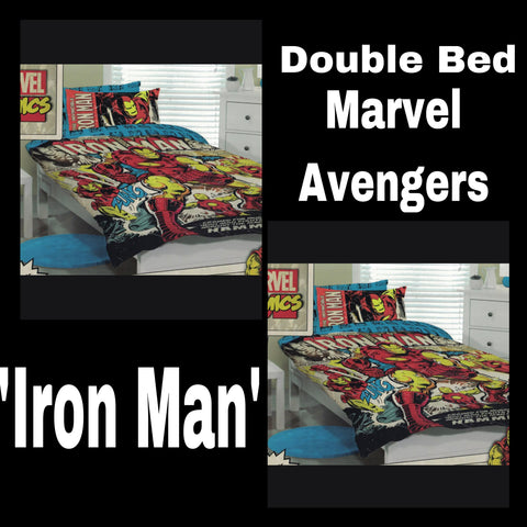 Double Bed Doona Cover Set 'Iron Man' ~ Marvel Avengers - SALE