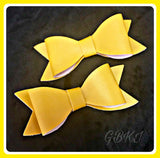 SELECT COLOUR Faux Leather Bow On Hair Clips Set Of 2
