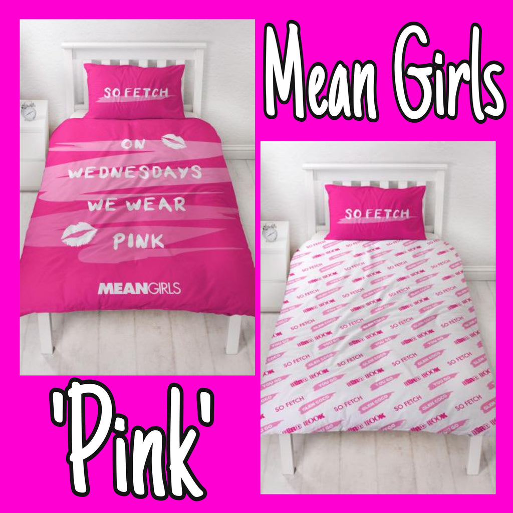 Single Bed Doona Cover Set 'Pink' ~ Mean Girls - SALE