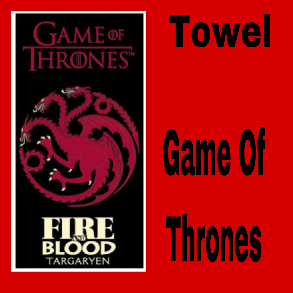 GAME OF THRONES 'Fire & Blood' Beach Towel