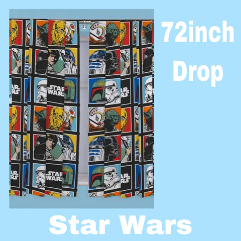Curtains 72 inch 'Force' ~ Star Wars - SALE
