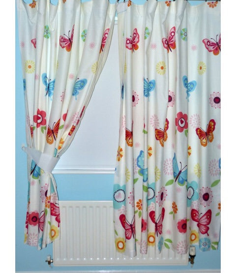 Lined Curtains 72inch ~ Butterfly