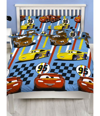 Double / Queen Bed Doona Cover Set 'Dinoco' ~ Cars