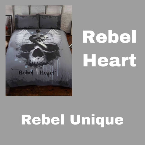 Double / Queen Bed Doona Cover Set 'Rebel Heart' ~ Rebel Unique - SALE