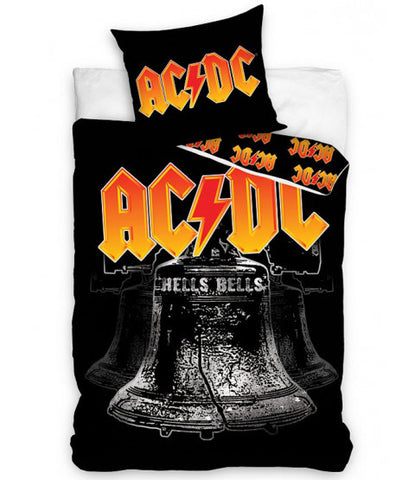 Euro 100% Cotton Single Bed Doona Cover Set 'Hell's Bells' ~ AC/DC