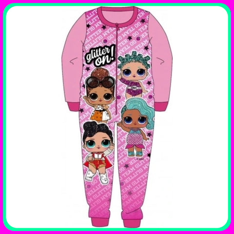 Fleece Onesie 'Glitter On' ~ LOL Surprise Dolls