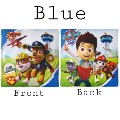 Filled Cushion 'Blue or Orange' ~ Paw Patrol - SALE