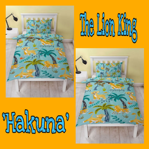 Single Bed Doona Cover Set 'Hakuna' ~ The Lion King - SALE