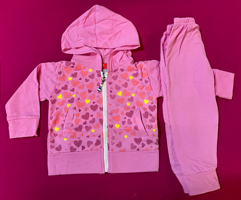 Tracksuit 'Pink Hearts' ~ SALE