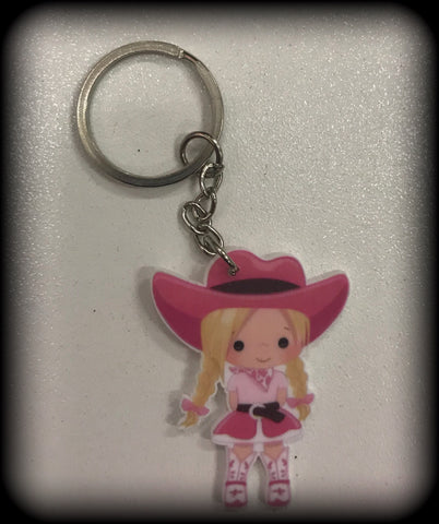 COWGIRL Resin Keyring